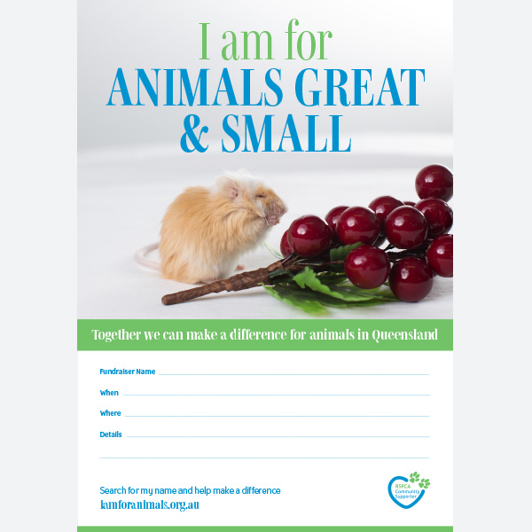 Fundraising Poster - All Animals