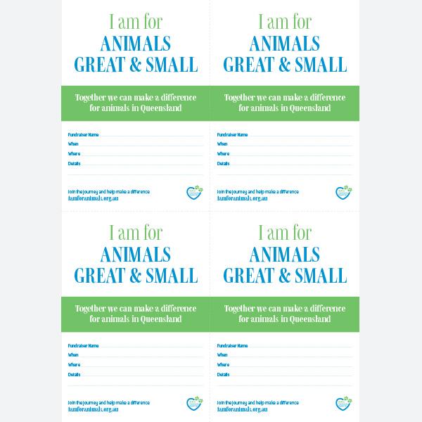 Invite - Animals Great & Small