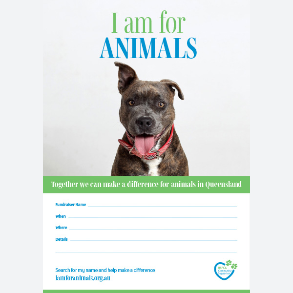 Fundraising Poster - Dog