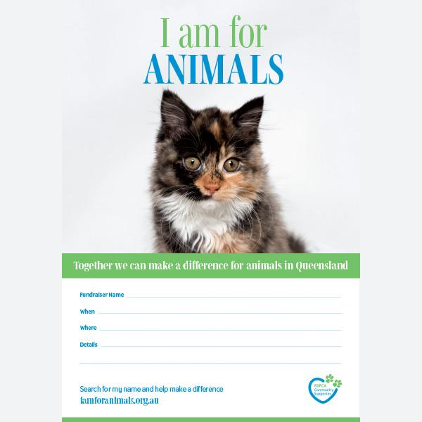 Fundraising Poster - Cat